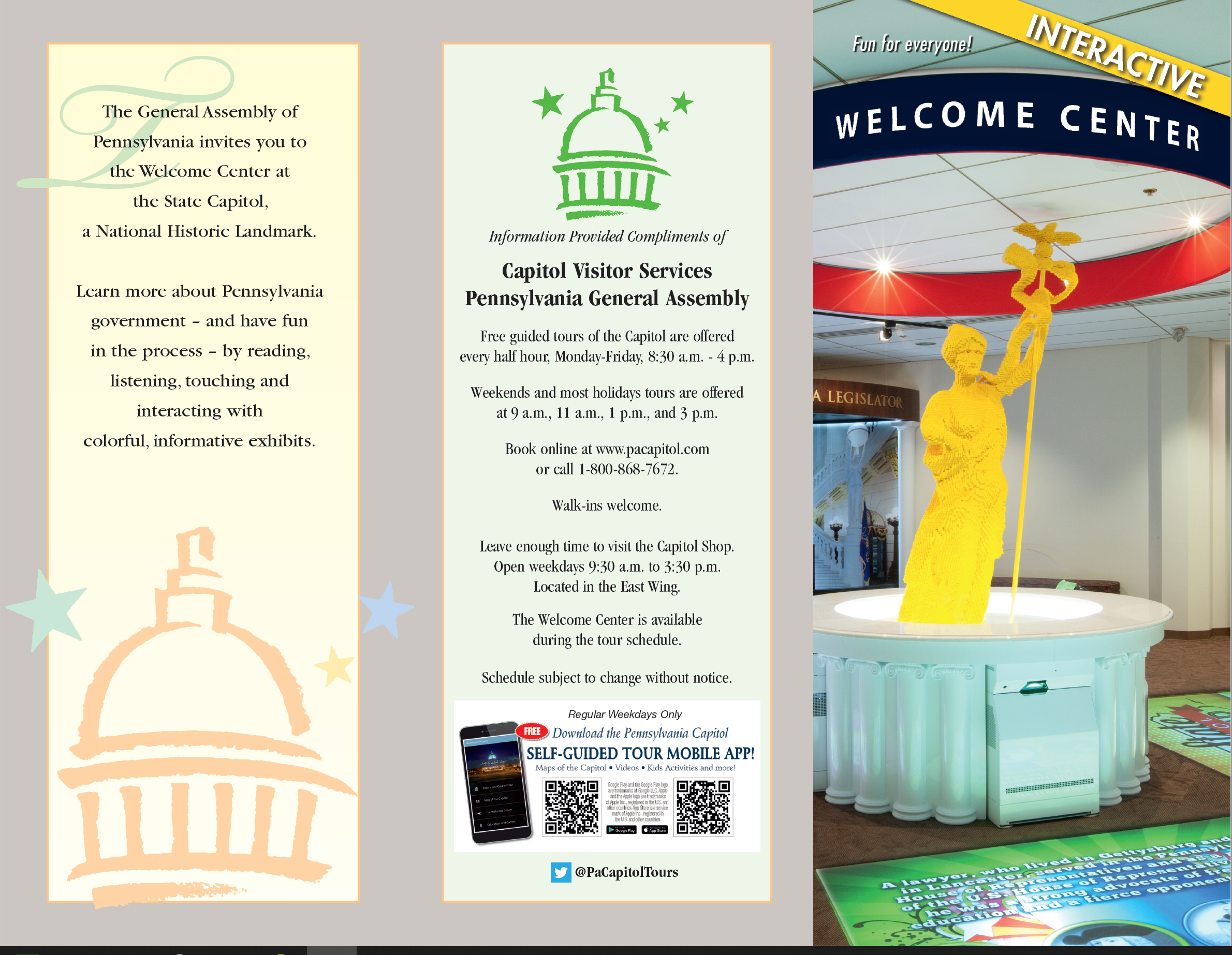 Capitol Visitor Services Welcome Center Brochure
