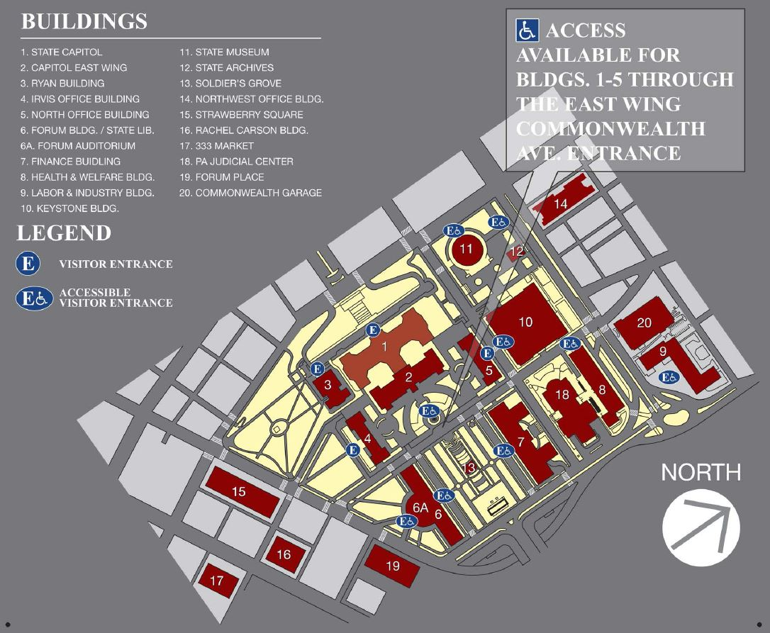 PA Capitol Accessibility Map