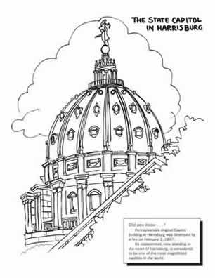 coloring pages pa capitol