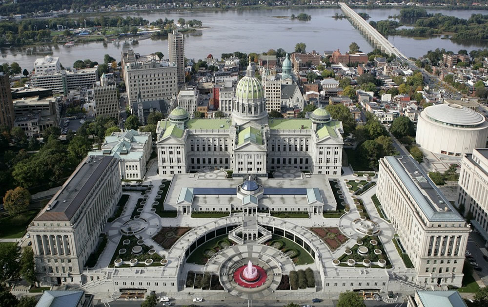 PA Capitol Complex Aerial View